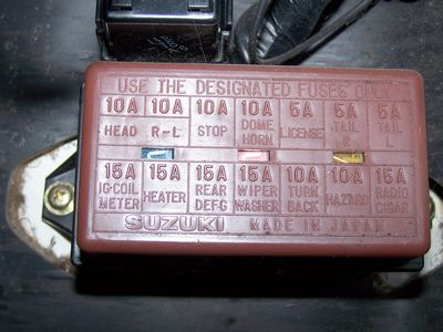 suzuki club uk • view topic indicators not working grrrrr fusebox 1 jpg