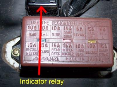 suzuki club uk • view topic indicators not working grrrrr fusebox 1 jpg
