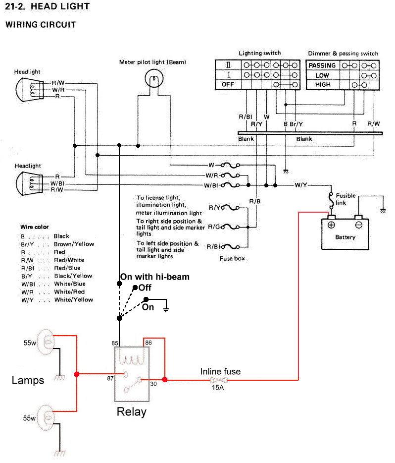Spotlight High Beam Wiring Diagram